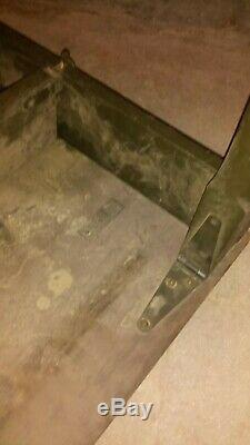 OLD U. S. MILITARY ARMY FOLDING FIELD TABLE DESK MOBILE OD GREEN 24x36x28 WOOD