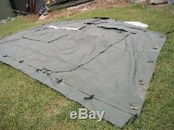 ONE MILITARY SURPLUS 16 x16 FRAME TENT DOOR SECTION ARMY. NO FRAMES INCLUDED