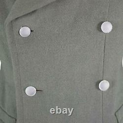 Original Austrian Army Coat Long Wool Grey Warm Heavy Overcoat Military Surplus