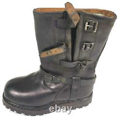 Original Austrian Army Issue Boots Leather Black Bh Shoes Military Surplus New