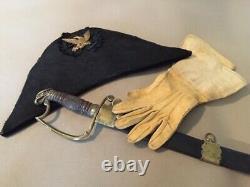 Original Early US Military Bicorn or Chapeau, 1850s. (Civil War, Kepi, Shako)
