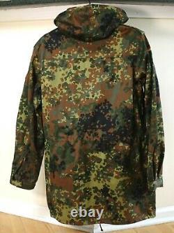 Original German Army Military Flecktarn Camouflage Field Coat RARE! NEW! Large