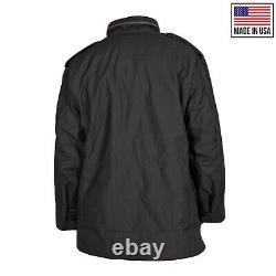 Original M65 Jacket US Army Surplus Military Combat Hood Field Coat Black Medium