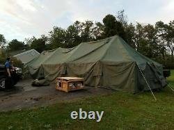 Original Vinyl General Purpose GP Large Green US Military Army Tent 18'x52'x12