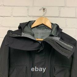 PROTOTYPE BLACK GORETEX/WATEPROOF COVERALL OVERALL with pockets, British military