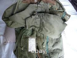 Parka, olive green. Military, vintage