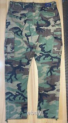 Polo Ralph Lauren Classic Surplus Camo Military Cargo Pants Mens Size 34x30