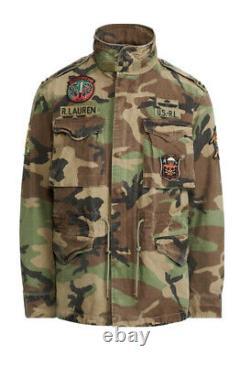 Polo Ralph Lauren M-65 Military Army Camo Surplus Field Jacket Medium BNWT