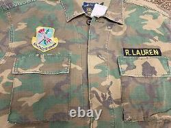 Polo Ralph Lauren Military Army Camo Officer Ripstop Soldier Shirt Size XL $328