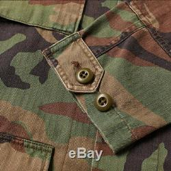 Polo Ralph Lauren Vtg Retro Military Army Camo Surplus Soldier Camp Shirt Jacket