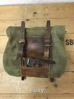 RARE 1943 Swiss Bicycle Saddle Bag Handlebar front Bag Vintage Army Military