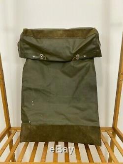 RARE Vintage Swiss Army Military Waterproof Rucksack Backpack Metal Plated Back