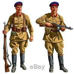 RKKA 1935, Soviet Military Soldier's NKVD Uniform USSR Red Army Set M35 with hat