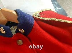 Rare Military Red Scarlet Cavalier, Guards Jacket Tunic 1901 Royal Army Clothing