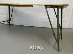 Rare S. W. A British Army Military Wooden Trestle Folding Table