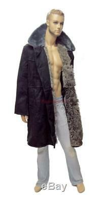 Russian Police Bekesha Officer Winter Sheepskin Coat Army USSR TULUP Fur Jacket