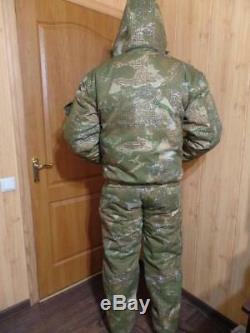 Russian Winter Military Uniform Jacket Fishing Hunting Travel -20c Camouflage