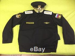 Russian army Marine NAVY office Military uniform 4 stars Admiral Gold Kant 52/3
