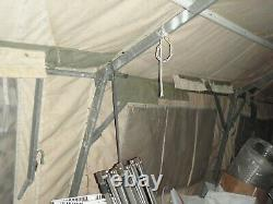 TEMPER TENT FRAME SET 20 x 32 CANVAS FREE ARMY US MILITARY SURPLUS