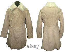 TULUP Bekesha Russian Officer Winter Sheepskin Coat Army USSR Shearling Jacket