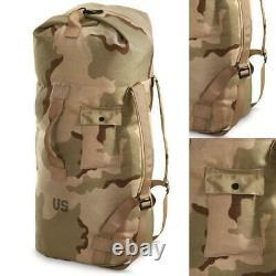 US ARMY DESERT CAMO DUFFEL BAG BACKPACK Military Surplus 36 2 Strap Transport