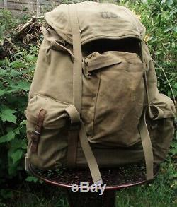 US ARMY M 1942 Mountain RuckSack Military Special Forces Bergen BackPack WW2 VTG