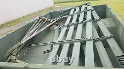 US ARMY M105A2 USMC Military 1-1/2 Ton Cargo Trailer NEW TIRES WithRAILS & BOWS