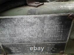 US ARMY M105A2 USMC Military 1-1/2 Ton Cargo Trailer WithRAILS & BOWS 1985