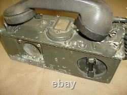 US Army Field Telephone Set Vintage Military Radio phone / Handset TA-43/PT