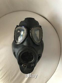 US Army Gas Mask C8R1 Vintage Military Black Chemical Biological