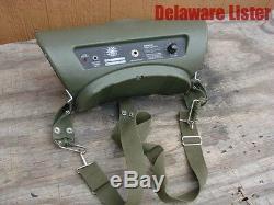 US Army Military Radio Field Audio Loudspeaker Portable Loud Speaker Model 360