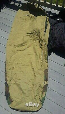 US Army Military Sleeping Bag 3-Piece Modular Bivy Gore-Tex Stuff Sack Woodland