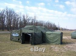 US MILITARY 18x36 MGPTS TENT WITH VESTIBULE DOOR HUNTING CAMPING SURPLUS -ARMY
