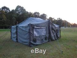US MILITARY SURPLUS 18x18 MGPTS TENT HUNTING CAMP ARMY TRUCK TRAILER-NO FLOOR