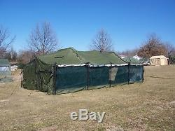 US MILITARY SURPLUS 18x36 MGPTS POLE SET ONLY. NO TENT. HUNTING CAMPING ARMY