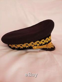 US Military Army General Officers Parade Dress Blue Visor Hat Cap Size 7 1/4