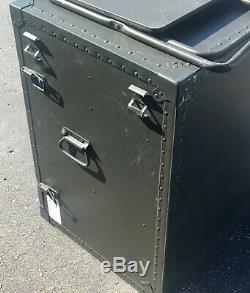 US Military Field Desk Army Storage Drawer Table Trunk USGI Perimeter Control