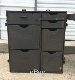 US Military Mobile Field Desk Army Surplus Storage Cabinet Table USGI Vietnam
