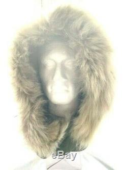 USA M65 FISHTAIL PARKA HOOD Modified Military Olive COYOTE Real FUR Upgrade NEW