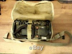 Us Military Army Radio Field Phone Telephone Including The Bag