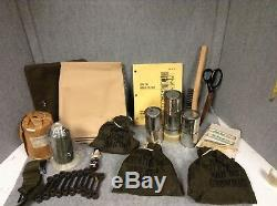Us Military Army Vietnam Issue M56 Tentage Repair Kit Bag Case Surplus