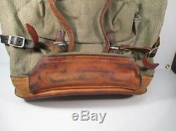 Vintage 1972 Swiss Army Military Backpack/Rucksack Salt and Pepper Canvas