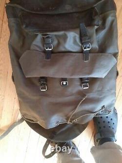 Vintage 1984 Swiss Army Military Waterproof Backpack Rucksack Rubberized Olive