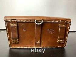 Vintage Leather Ammo Bag Swiss Army Ammunition Case 1960s Military Tan Clutch