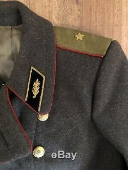 Vintage Russian Soviet Military Army Coat Uniform Officer Overcoat Wool