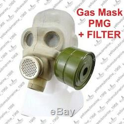 Vintage Soviet Russian USSR Military PMG Gas Mask with charcoal FILTER 40mm