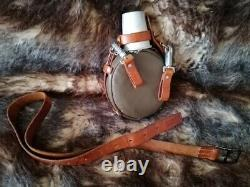 Vintage Swiss Army Flask 1974 Leather Belt Military Switzerland Medical Bottle