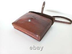 Vintage Swiss Army Military Officer Leather Bag Maps Medic Paramedic 1930 ww1ww2