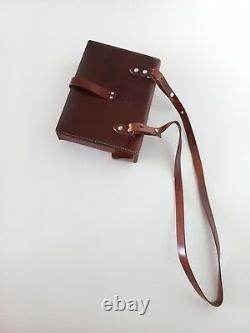 Vintage Swiss Army Military Officer Leather Bag Maps Medic Paramedic 1973 ww1ww2