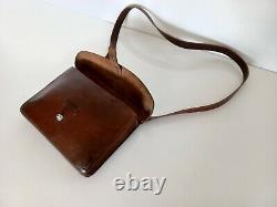 Vintage Swiss Army Military Officer Leather Bag Maps Medic Paramedic ww1ww2